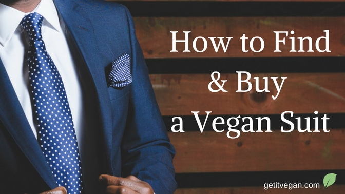 Guide on how to find and buy a vegan suit