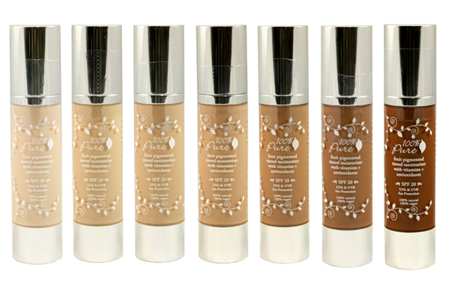 100 Percent Pure Tinted Moisturizer with SPF 20 Sun Protection