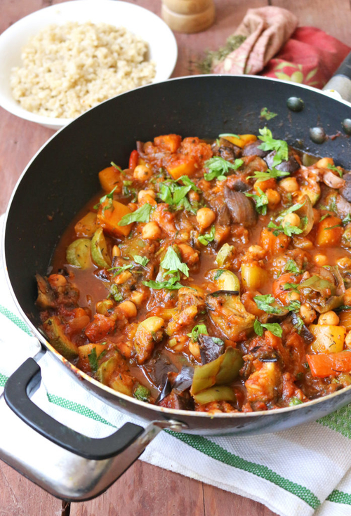 Mediterranean Vegetable and Chickpea Stew by One Arab Vegan