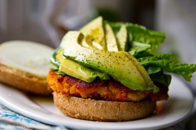 Sweet Potato Veggie Burgers by Happy Healthy Life