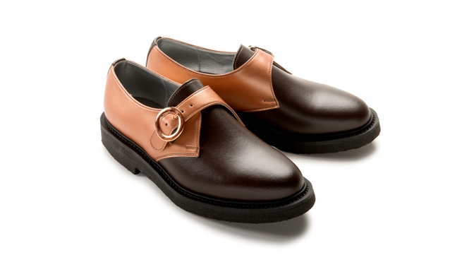 Jung Monk in Brown & Copper Friendship Vegan Shoes