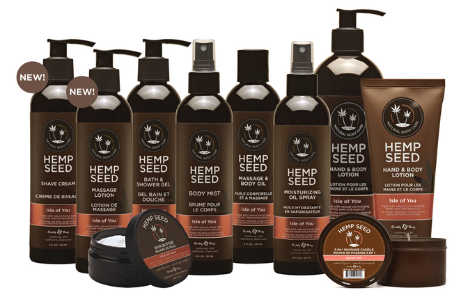 Isle of You line by Earthly Body's Hemp Seed Brand
