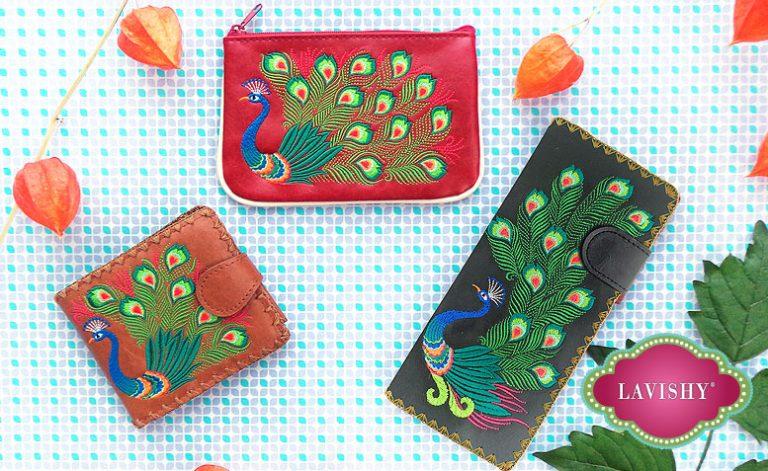 LAVISHY peacock accessories
