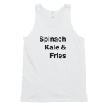 Mens Tank Top Spinach Get it Vegan