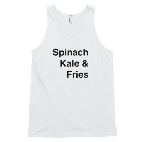 Mens Tank Top Spinach Get it Vegan