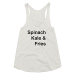 Tank Top Womens Spinach Kale Get it Vegan