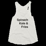 Tank Top Womens Spinach Kale Get it Vegan